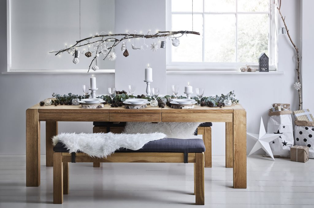 Christmas styling interior scandi style