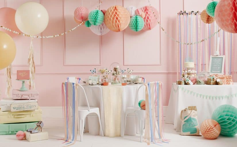 Not on the High Street Wedding Pastels wedding styling wedding decor pastels ribbons event styling