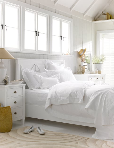 Frank Hudson Bedroom white bed linen seaside contemporary white furniture white house white styling white bedroom white interiors