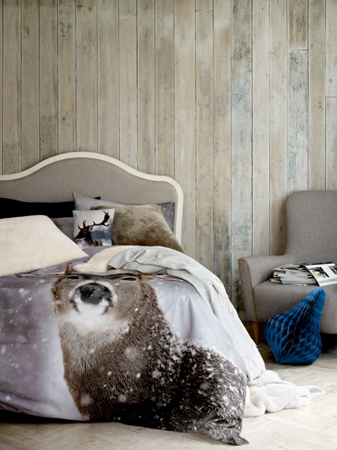 Christmas bed room scandi bed room