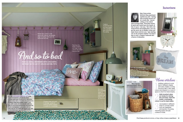 Tesco Magazine bedroom styling cottage bedroom