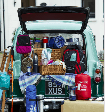 Camping picnic styling on the road Ocado hiking